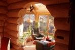 Innenansichten Löffler Naturstammhaus / Blockhaus