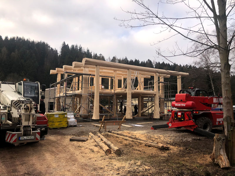Naturstammhausfachwerkhaus Langewiesen 12