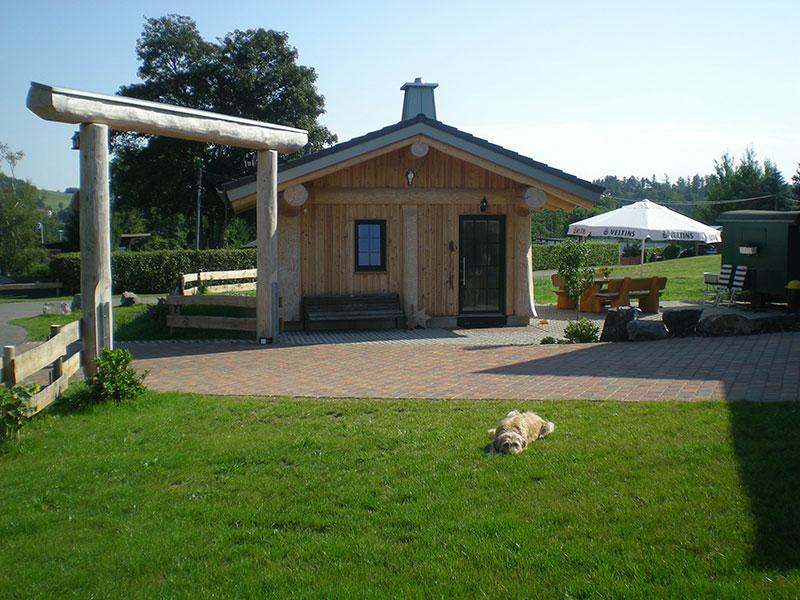 Naturstammhaus Urlaub Edersee Bild 2