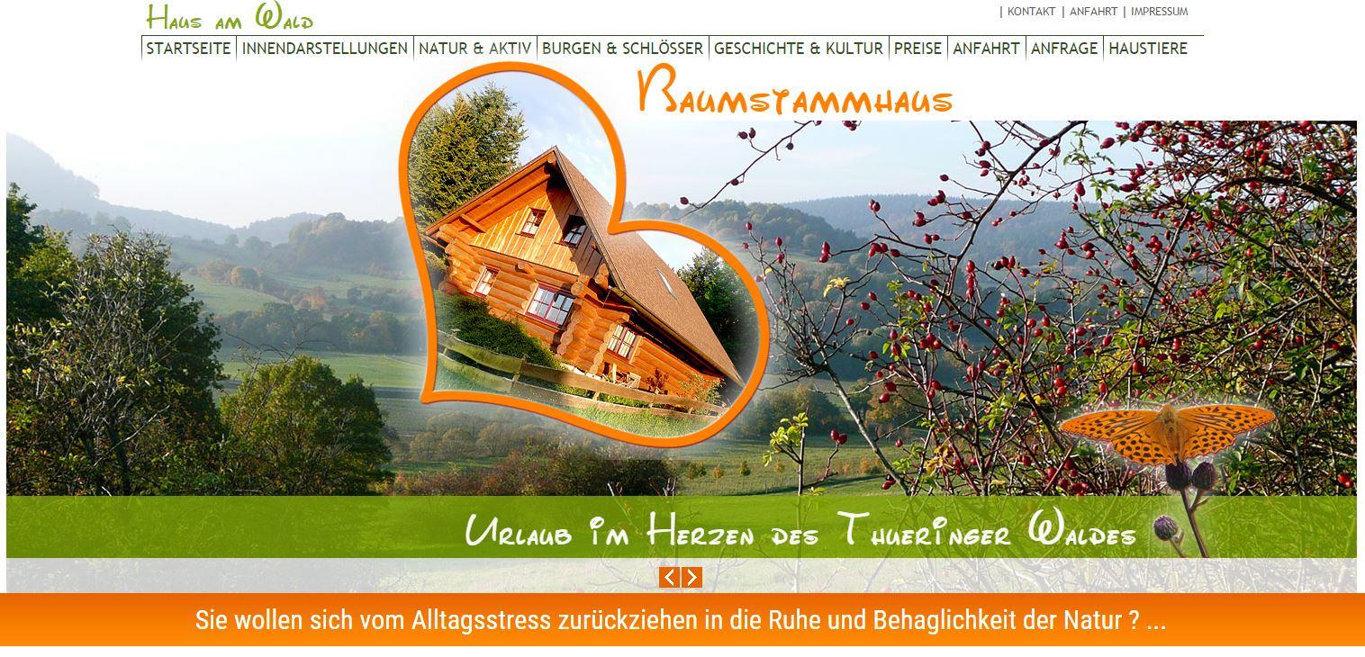 Blockhaus Urlaub Fischbach Thüringen