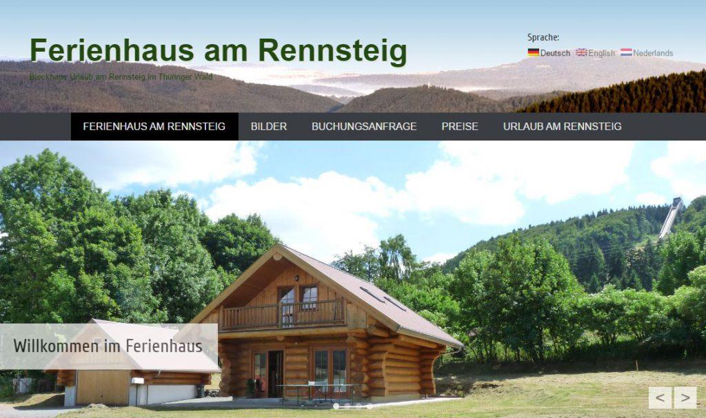 Blockhaus Urlaub | Ferienhaus am Rennsteig Webseite