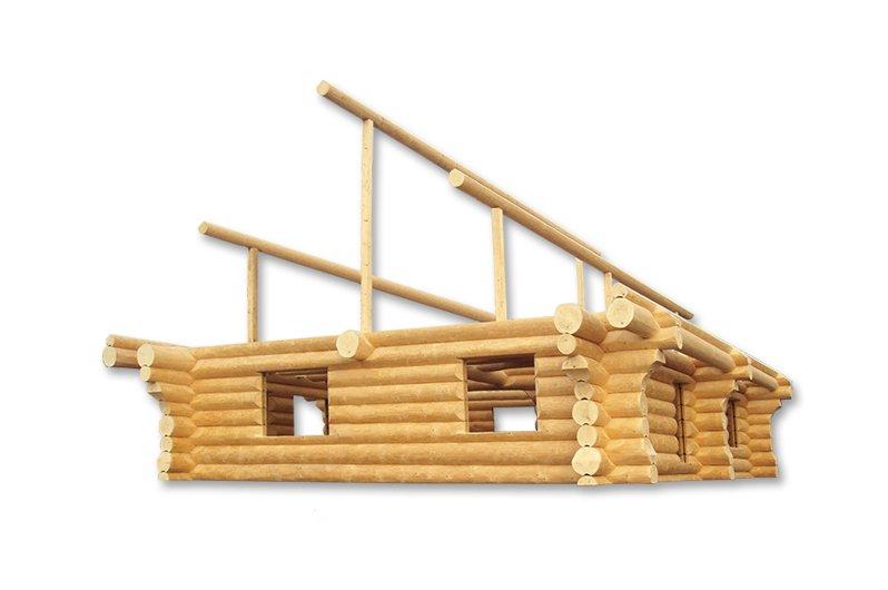Naturstamm Blockhaus vorher