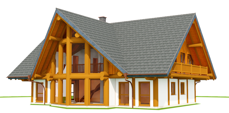 Naturstammhaus Planungsphase III | Naturstammfachwerkhaus | Post and Beam