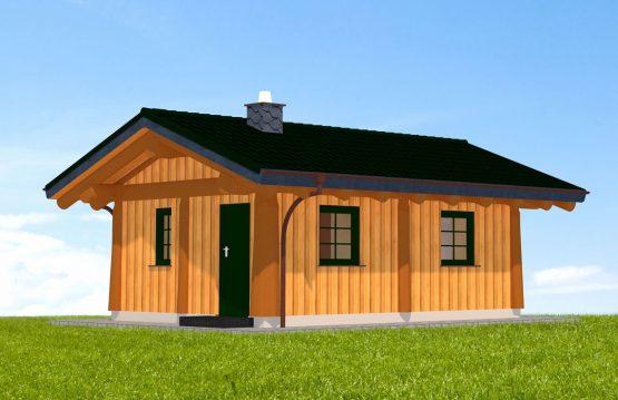 Naturstammhaus Burgberg Vorderseite