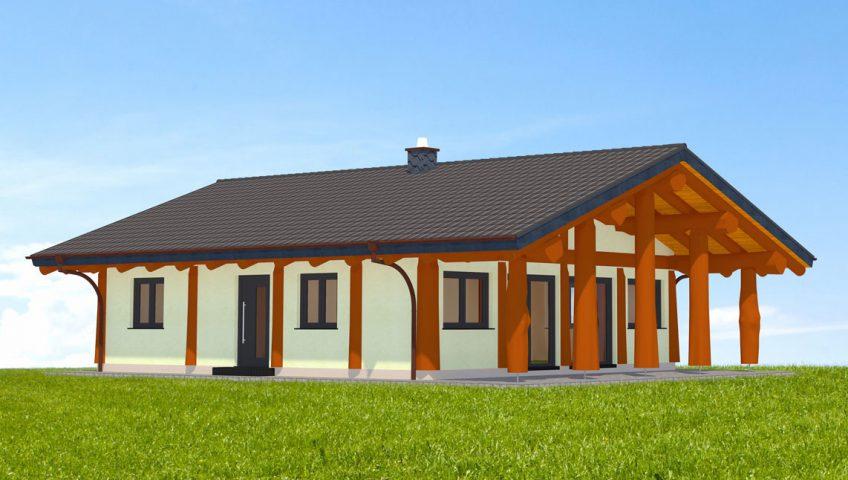 Naturstammhaus Feldberg Vorderseite