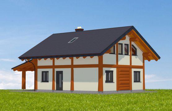 Naturstammhaus Rennsteig Vorderseite