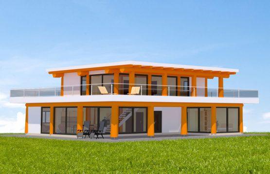 Naturstammhaus Seimberg Vorderseite
