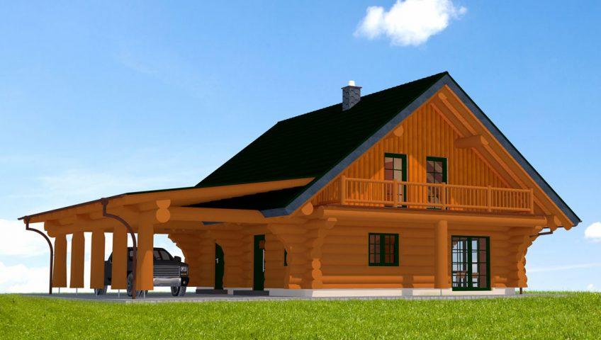 Blockhaus Zugspitze Vorderseite