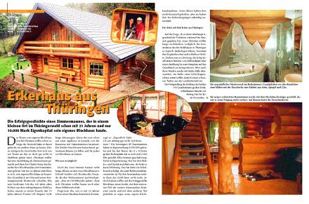 Löffler Naturstammhaus im Blockhome Magazin 2002-01 Seite 1