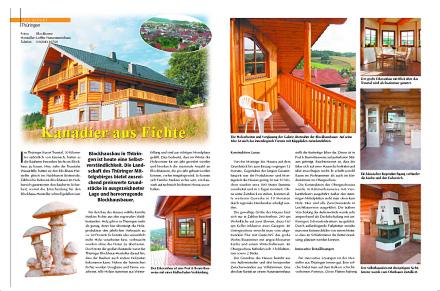 Löffler Naturstammhaus im Blockhome Magazin 2002-04 Seite 1