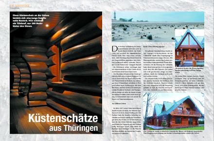 Löffler Naturstammhaus im Blockhome Magazin 2004-02 Seite 1