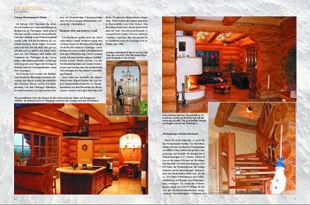 Löffler Naturstammhaus im Blockhome Magazin 2004-02 Seite 2