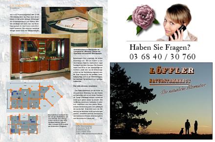 Löffler Naturstammhaus im Blockhome Magazin 2004-02 Seite 3