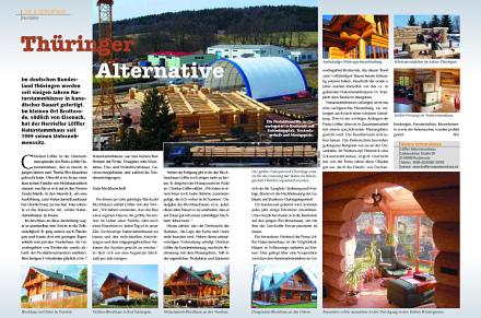 Löffler Naturstammhaus im Blockhome Magazin 2005-02