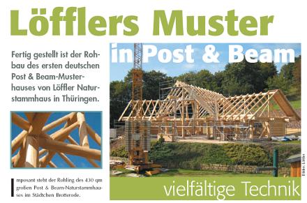 Loeffler Naturstammhaus im Blockhome Magazin 2010