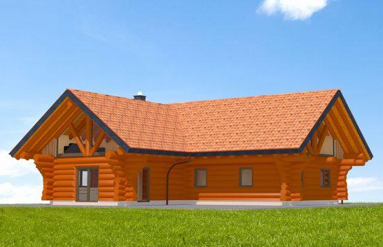 Blockhaus Dolmar Vorderseite